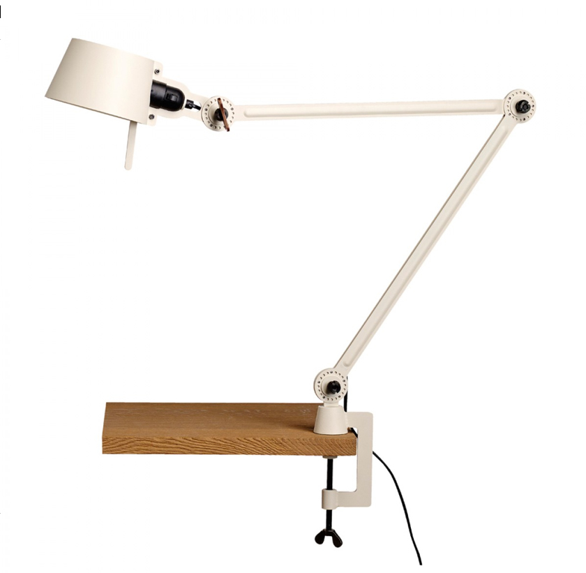 Tonone Bolt Desk Lamp Double Arm With Clamp licht wit drentenvandijk