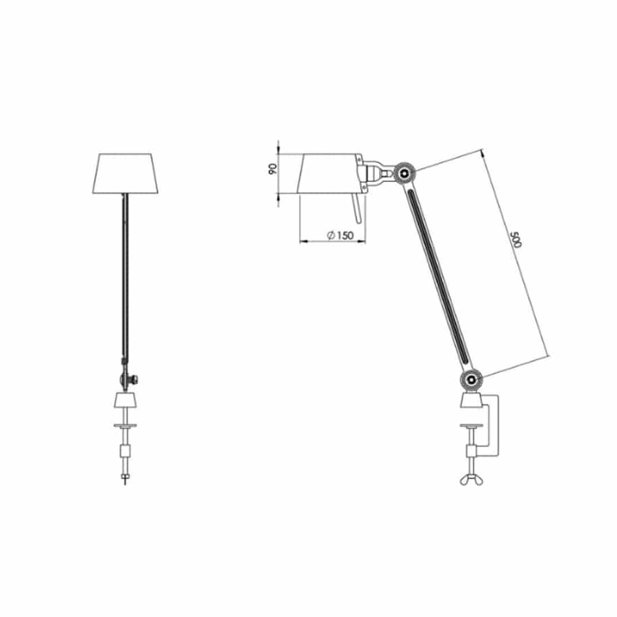 Tonone Bolt desk lamp single arm clamp