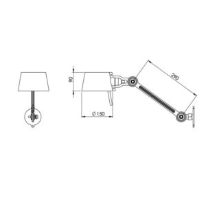 Tonone Bolt bed lamp side fit
