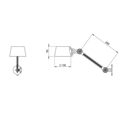 Tonone Bolt wall lamp side fit