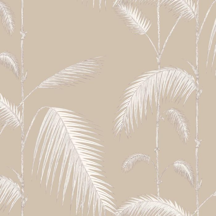Cole and Son behang Palm Leaves white