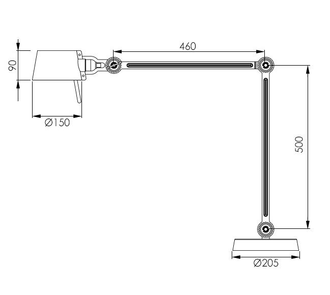 Tonone Bolt desk lamp - double arm (no. 1)