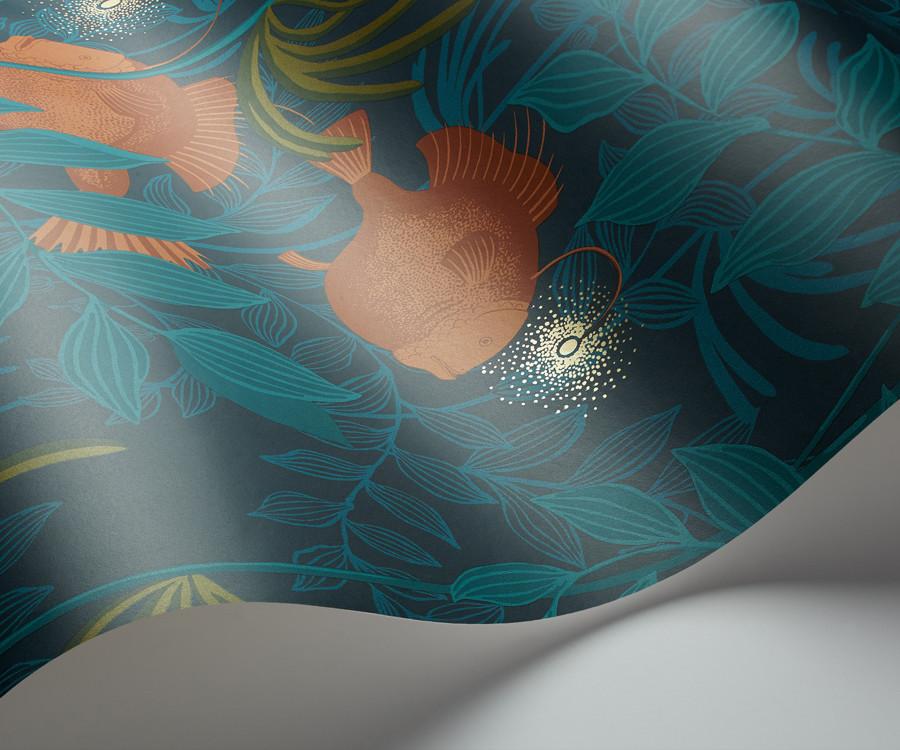 Behang Kinderkamer Regenboog : Cole and Son behang nautilus orange ...