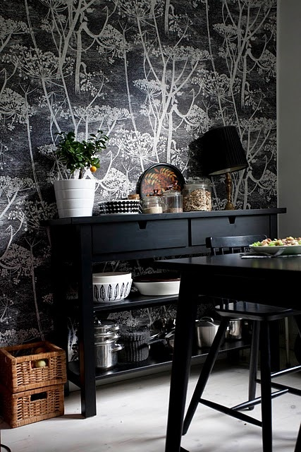 cole and son behang - Cow Parsley black 66/7046