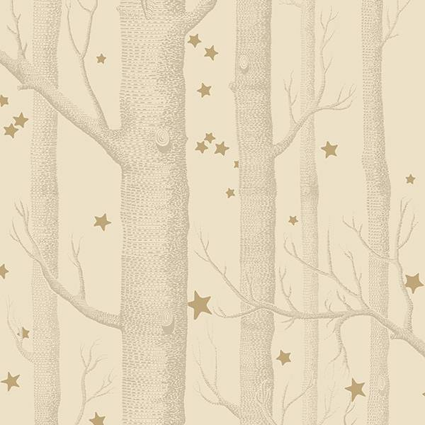 Cole and Son behang - Woods & stars gold taupe - 103/11049