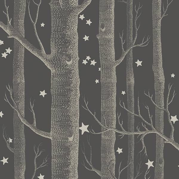 Cole and Son behang - Woods & stars charcoal - 103/11053