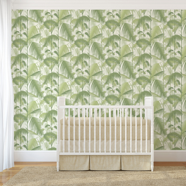 Cole & Son behang Palm Jungle light green