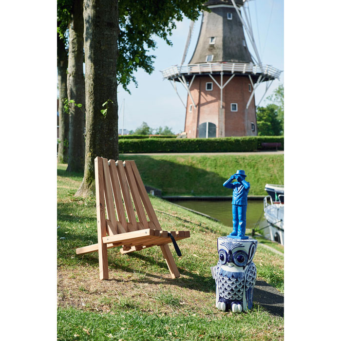 Pols Potten Stool owl flower blue