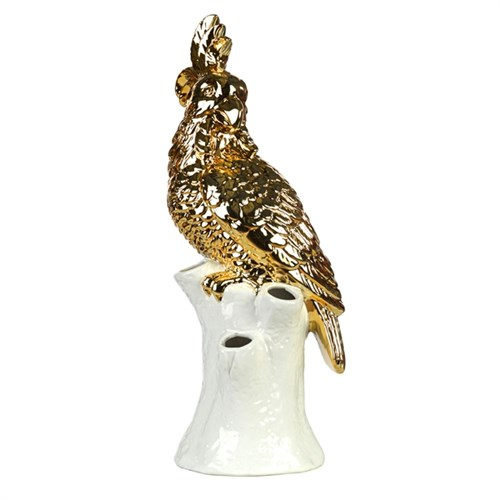 Pols Potten vase cockatoo gold