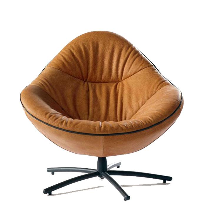 Label Hidde fauteuil leer Soft