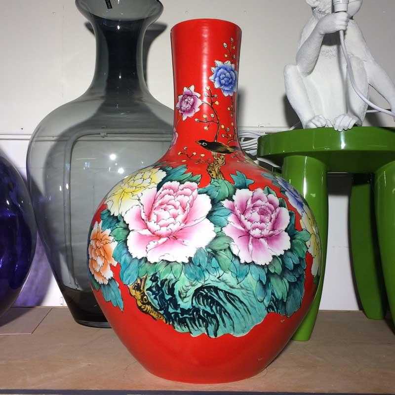 pols potten ball body vase rood drent van dijk shop. Black Bedroom Furniture Sets. Home Design Ideas