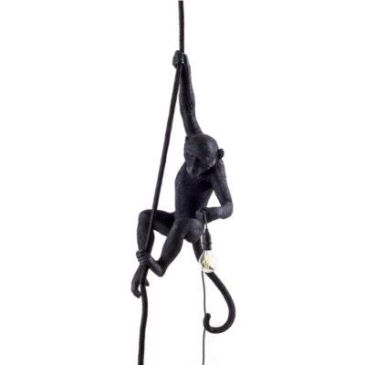 Seletti Monkey lamp black ceiling