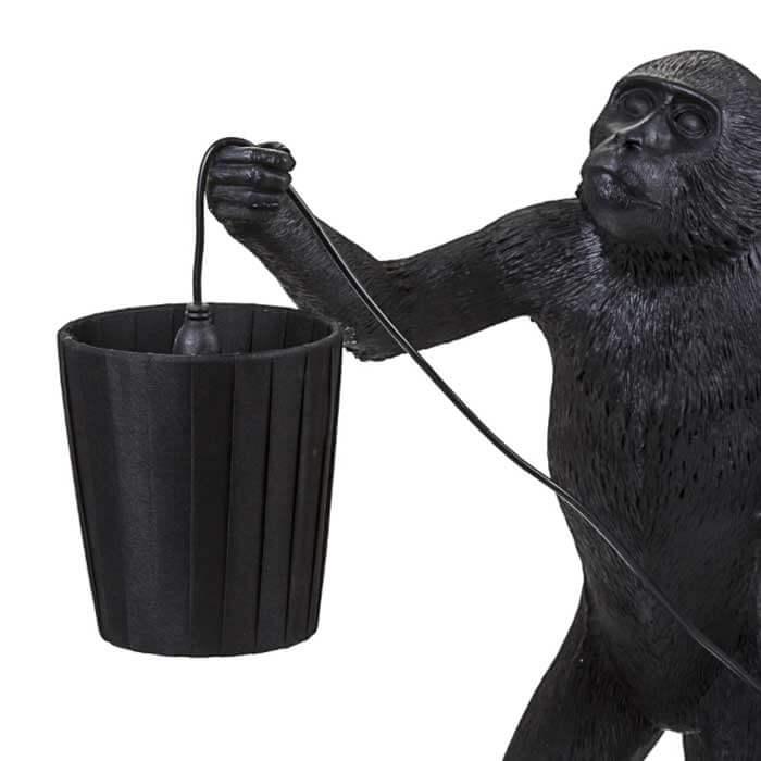 Seletti Monkey lamp black
