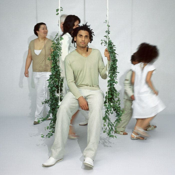 Droog Design Swing with the plants