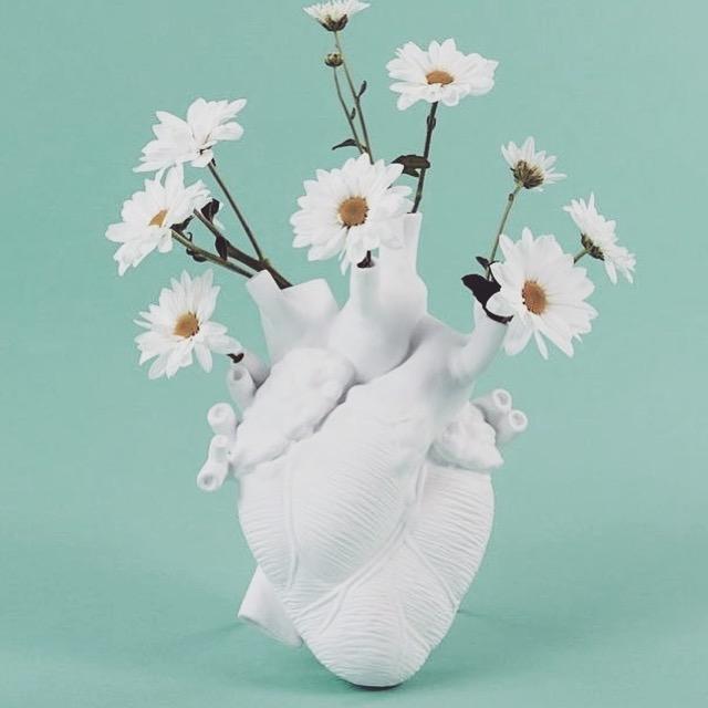 Seletti Love in Bloom Heart vaas