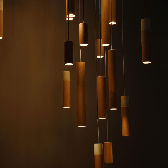 Karven Roest Vertical 30 hanglamp