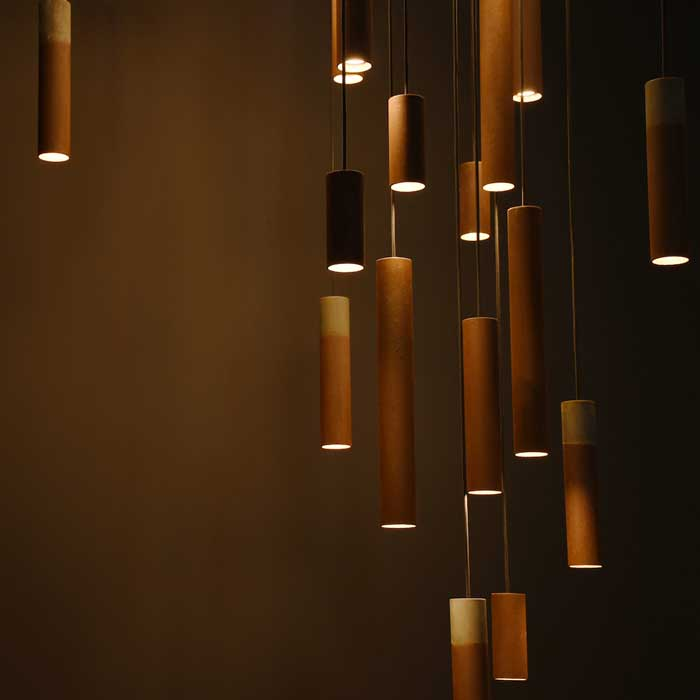 Karven Roest Zinc Vertical 30 hanglamp