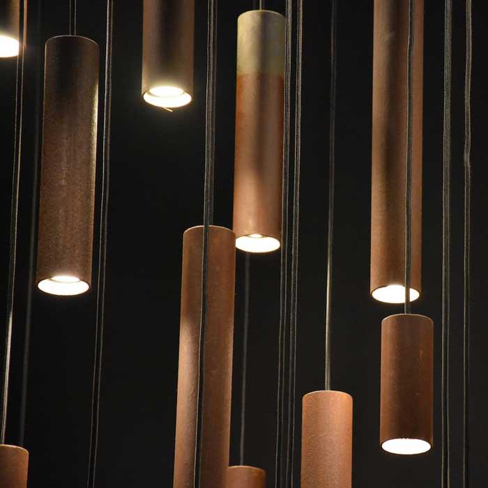 Karven Roest Vertical 45 hanglamp