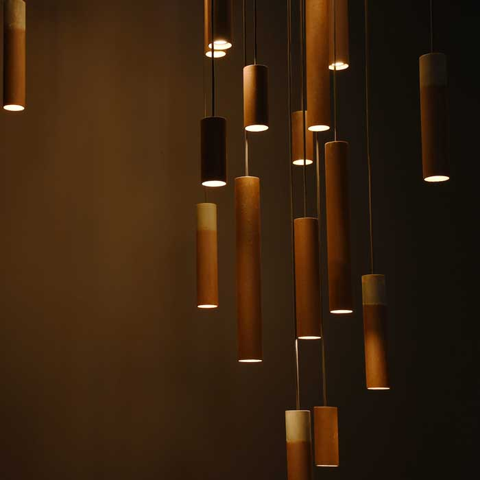 Karven Roest Zinc Vertical 45 hanglamp