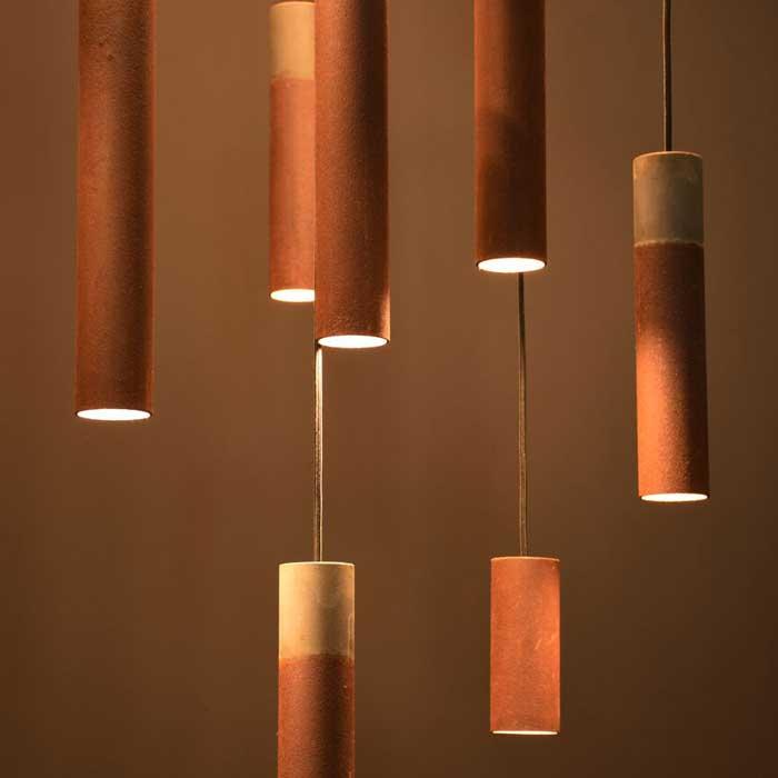 Karven Roest Vertical 15 hanglamp