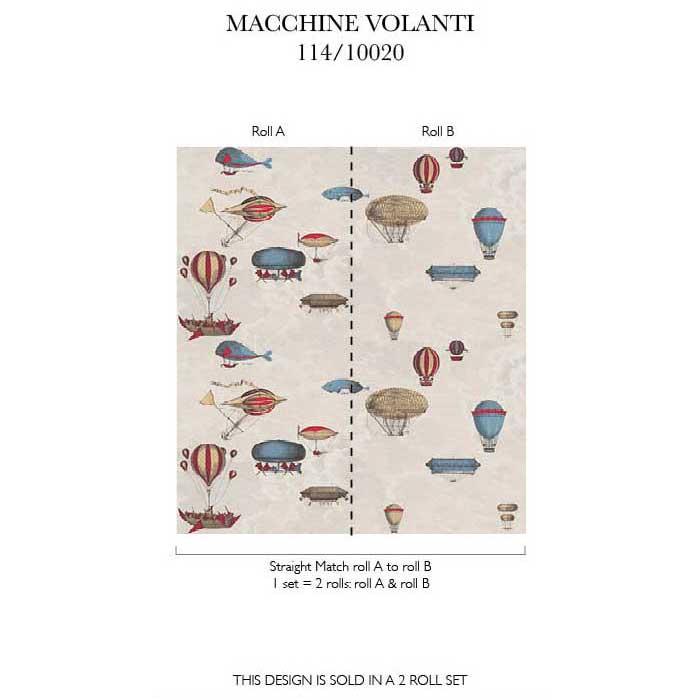 Cole and Son Fornasetti Macchine Volanti