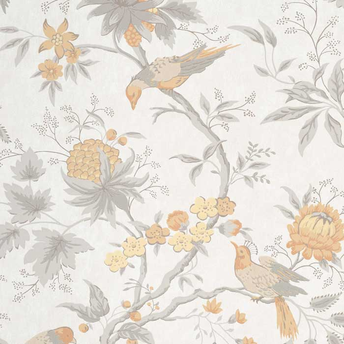 Little Greene Behang Brooke House Cinder