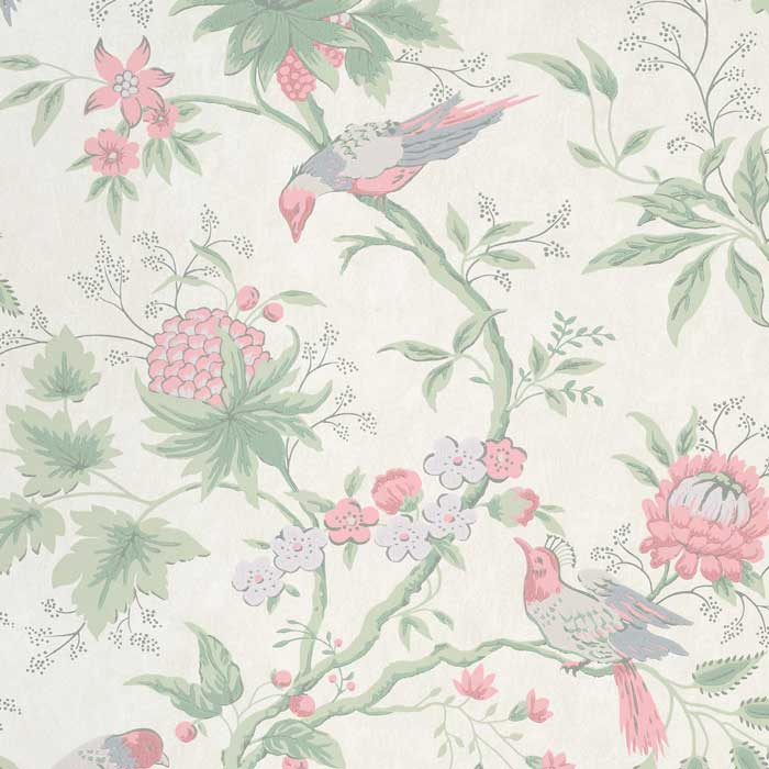 Little Greene Behang Brooke House Linen