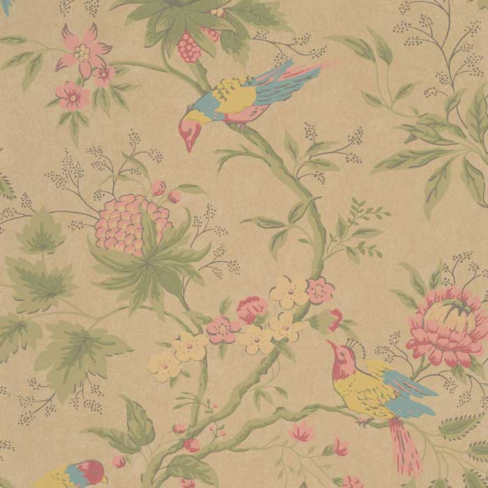 Little Greene Behang Brooke House Parchment