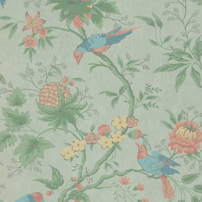 Little Greene Behang Brooke House Silk