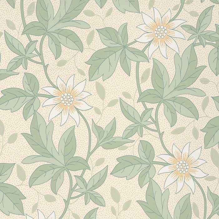 Little Greene Behang Monroe gold Flower