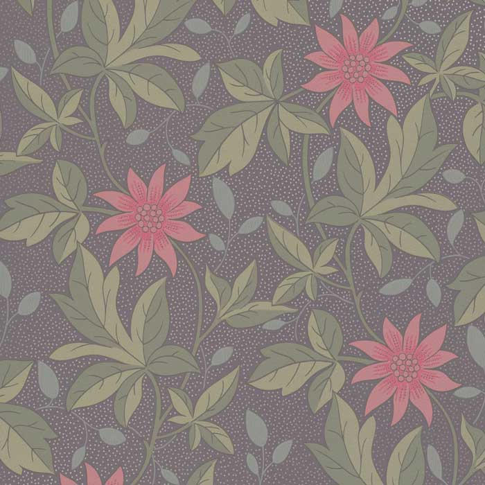 Little Greene Behang Monroe pink Flower