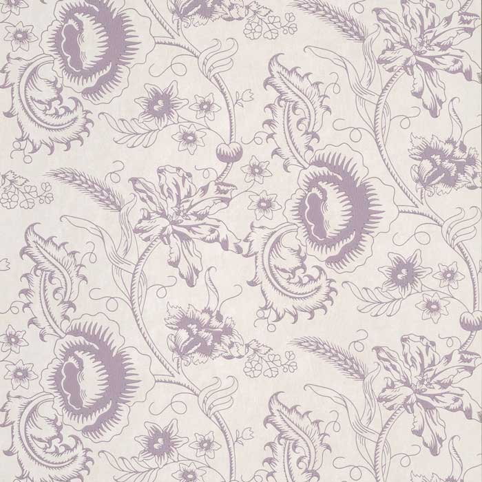 Little Greene Behang Woodblock Mono Plum