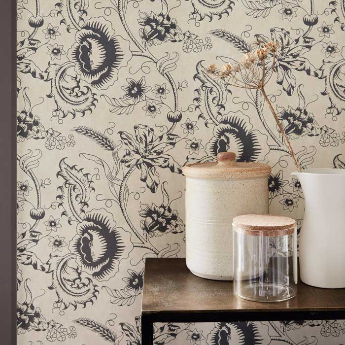 Little Greene Behang Woodblock Mono