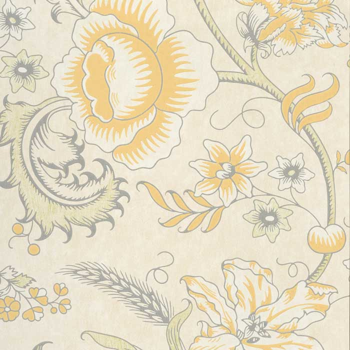 Little Greene Behang Woodblock Trail Claude
