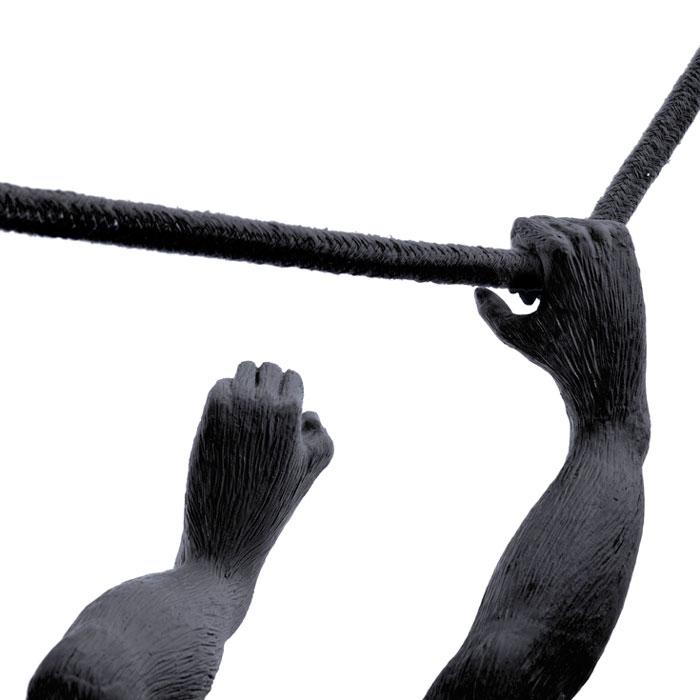 Seletti Monkey Lamp Hanging Swing Black Outdoor