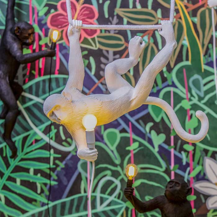 Seletti Monkey Lamp Hanging Swing