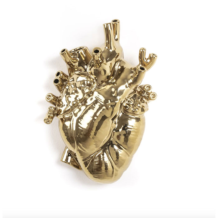 Seletti Love in Bloom Heart Vaas Gold
