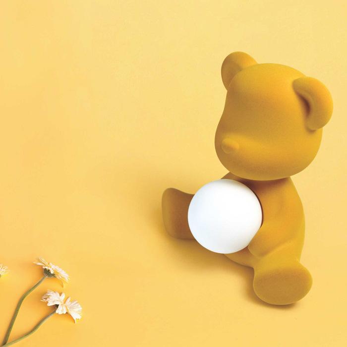 Teddy girl velvet led lamp