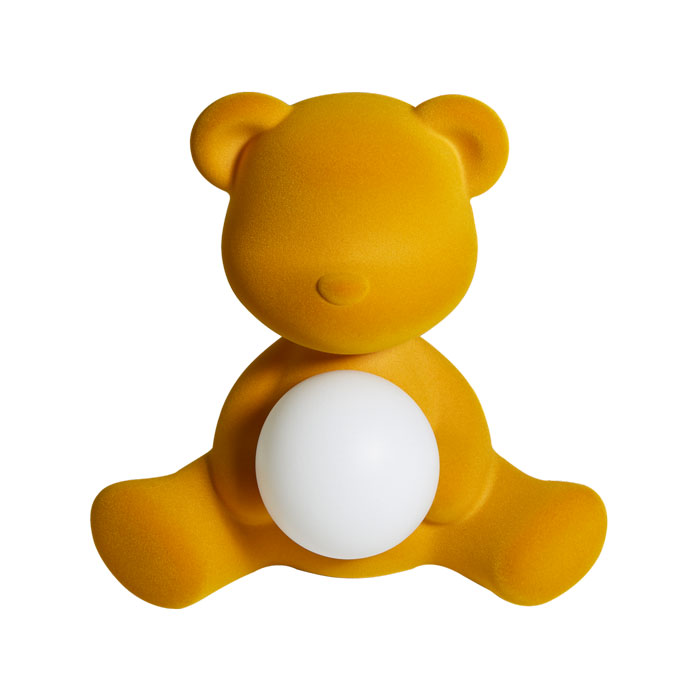 Teddy girl velvet led lamp