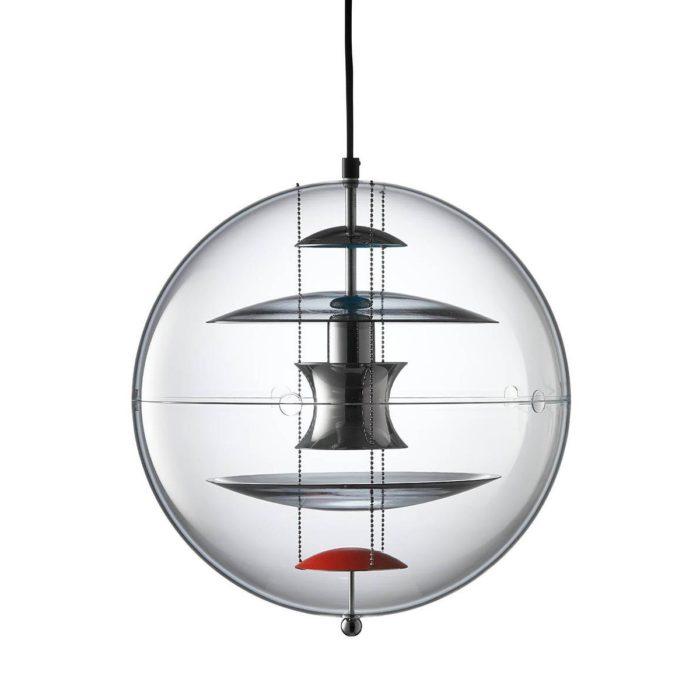 Verpan VP globe coloured glass