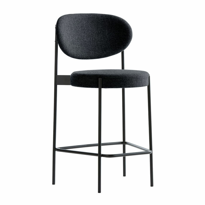 Verpan Bar Stool 430 Antraciet Zwart 180