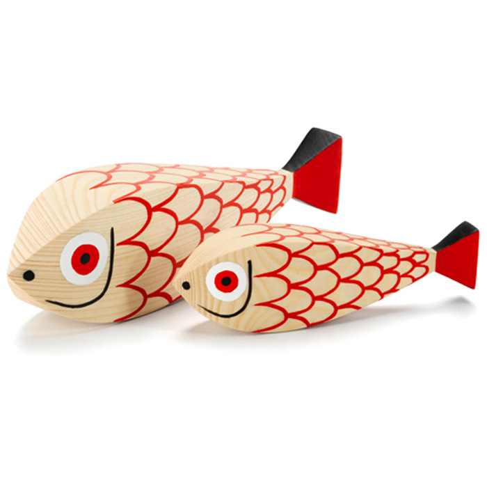 Vitra Wooden Dolls, Mother Fish & Child