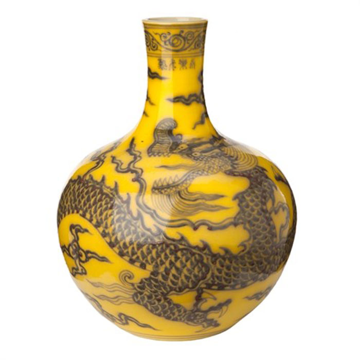 Pols Potten Vase Dragon Yellow