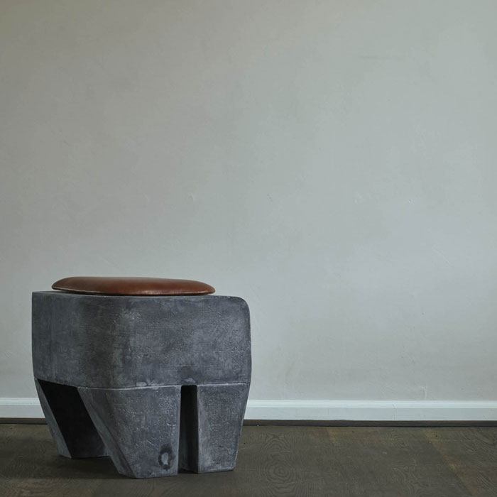 101 Copenhagen Sculpt Stool Concrete