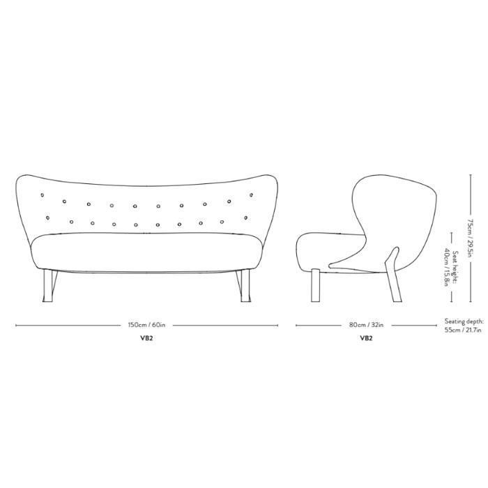 &tradition Little Petra VB2 Sofa