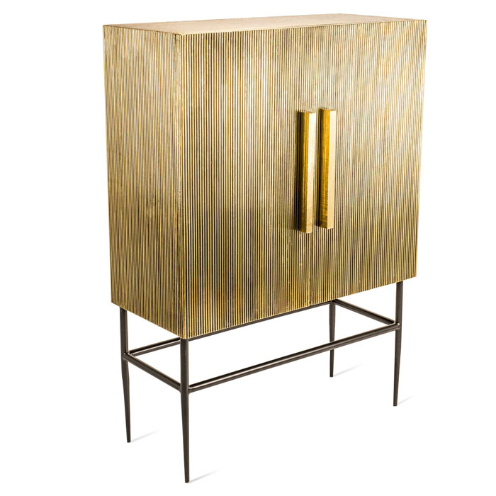 Pols Potten Cabinet ribbel gold middle kast