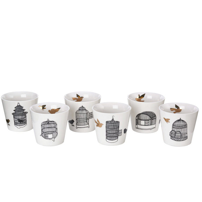 Pols Potten Freedom birds beker set 6