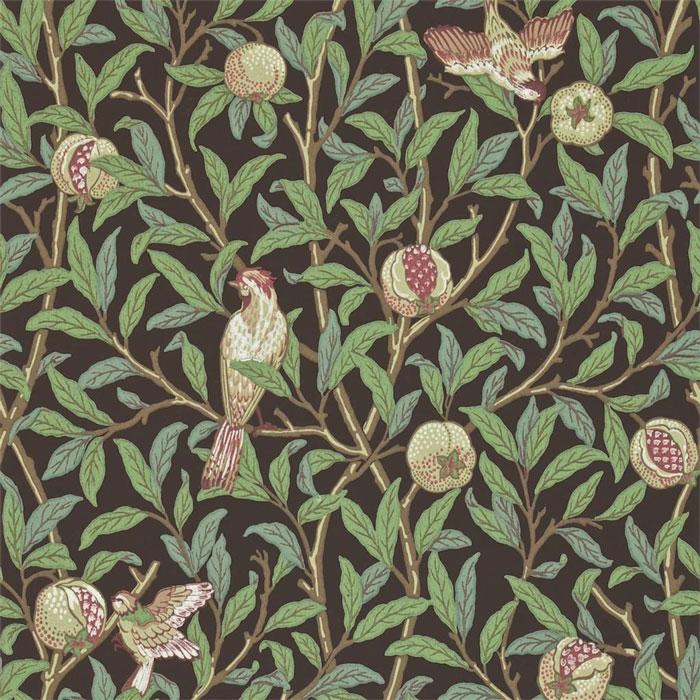 Morris and Co Bird Pomegranate 212539