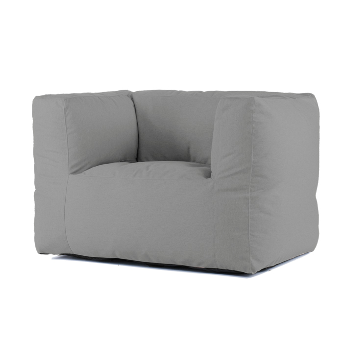Bryck Lounge Chair Smooth Silver