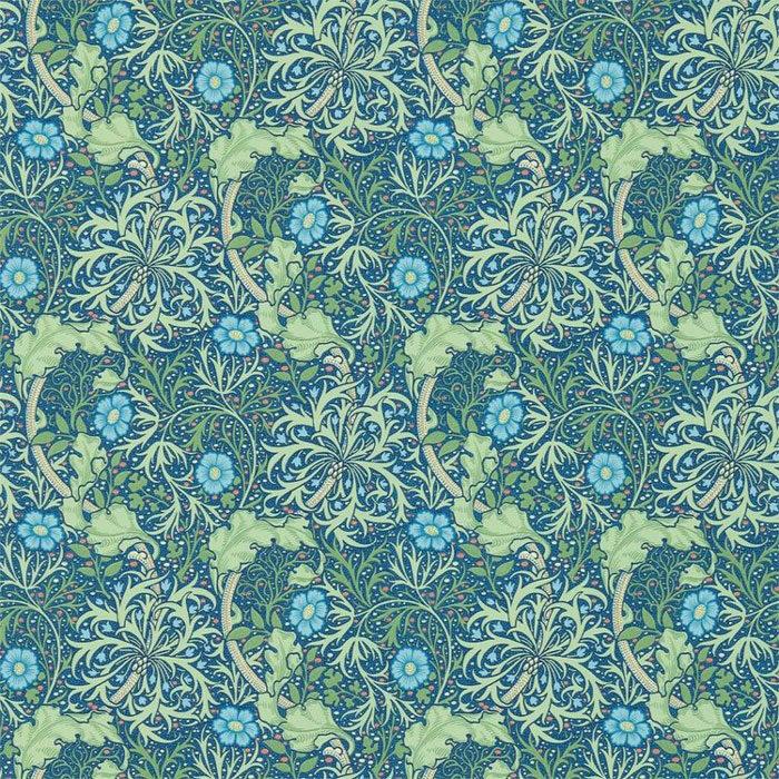 Morris and Co Seaweed Cobalt Thyme 214713